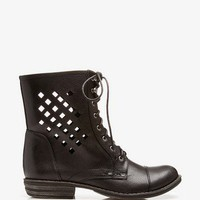 Cutout Combat Boots | FOREVER 21 - 2027706299