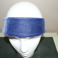 Blue Velvet Headband, Fashion HairBand, Wide Blue Hairband, Shabby Chic Headband, Spring Hairband, Blue Headband