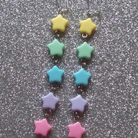 Pastel Shooting Star Earrings