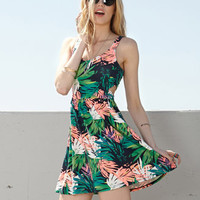 Tropical Floral Cutout Dress | FOREVER 21 - 2036368526
