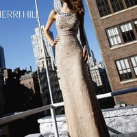 Nude/Silver  Sequin Prom Pageant Dress Sherri Hill 1520