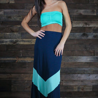 The Big Time Chevron Maxi Skirt