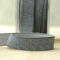 5 Yards Black Denim Ribbon Twill Tape Sewing Notion Gift Wrapping Charcoal
