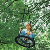 Round-and-Round Outdoor Swing: Toys &amp; Games