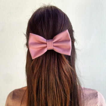 light pink big hair bow s n 004 from colordrop on etsy