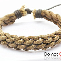 fashion Adjustable leather Cotton Rope Woven Bracelets mens bracelet cool bracelet jewelry bracelet bangle bracelet  cuff bracelet 2238S