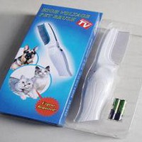 High Voltage Pet Brush Kills Fleas, Ticks, Pets