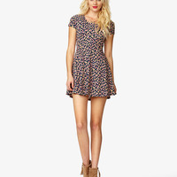 Fit & Flare Rose Print Dress | FOREVER21 - 2026967223