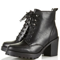 AMPLE Black Heavy Sole Boots - Boots  - Shoes