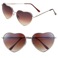 BP. Heart Shaped 58mm Sunglasses (Juniors)