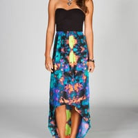 Hurley Sheila Maxi Dress Blue Combo  In Sizes