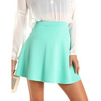 Solid Scuba Skater Skirt: Charlotte Russe
