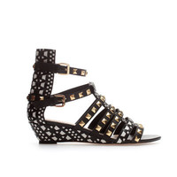 STUDDED STRAPPY SANDALS WITH ETHNIC WEDGE - Shoes - Woman - ZARA United States
