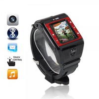 N9 Unlocked Touch Screen Camera Bluetooth Camera Triband Watch Cell Phone Black Red Buttons
