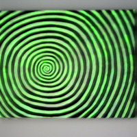 Original Painting Glow in the Dark Spiral / Burtonesque by Liat Dobrishman