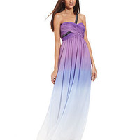 Calvin Klein Dress, Sleeveless One-Shoulder Ombre Gown - Juniors Prom Dresses - Macy&#x27;s