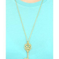fredflare.com | 877-798-2807 | antique skeleton key necklace