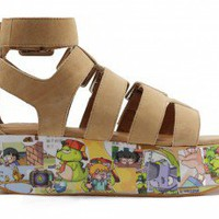 *SALE Jeffrey Campbell: Sailin Beige Multi