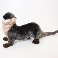 Amazon.com: Hansa River Otter Stuffed Plush Animal, Laying: Toys & Games