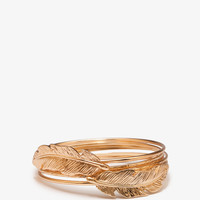 Feather Bangle Set | FOREVER21 - 1054598484
