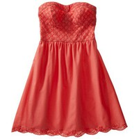 Xhilaration® Juniors Strapless Eyelet Dress - Assorted Colors