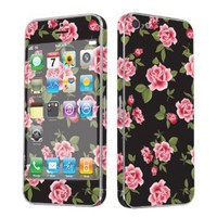Apple iPhone 5 Full Body Vinyl Decal Protection Sticker Skin Black Rose Garden: Cell Phones & Accessories