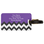 Eggplant Violet &amp; Zigzag Chevron. Chic Luggage Tag from Zazzle.com