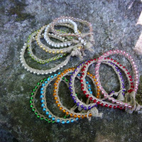 Natural Stackable Hemp Bracelets Set of 3