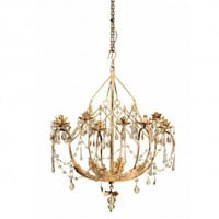 Lovely Edith Chandelier in Yellow Gold Finish