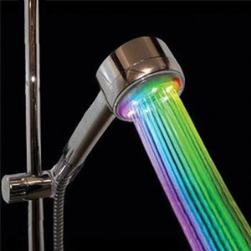 VDOMUS® 7 Color LED Lights Shower Head Bathroom Showerheads-Rainbow LED Lights Cycle Every 2 Seconds