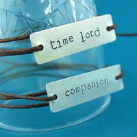 Doctor Who Time Lord and Companion tie on bracelet set - Doctor Who Friendship Bracelets