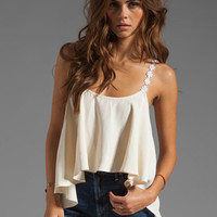 For Love &amp; Lemons Cherry Pop Tank in Ivory from REVOLVEclothing.com