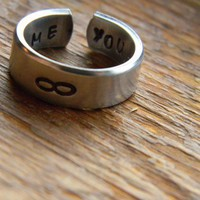 me and you cuff ring style to share infinite love.