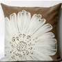 White Daisy Flower Pillow