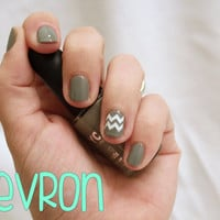 Chevron Fingernail Stickers x20