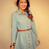 Studded 'Lonestar' Denim Dress