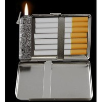 Supreme 2 in 1 Cigarette Case with Built in Lighter # 38 (For Kings Size Cigarettes): Everything Else