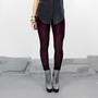 Dark Burgundy Velvet Leggings - Made -to- Order XS-S or S-M Only