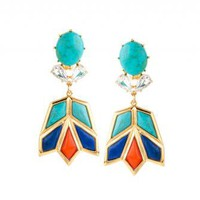 Aegean Blue Lotus Earrings - LELE SADOUGHI Aegean Blue Lotus Earrings