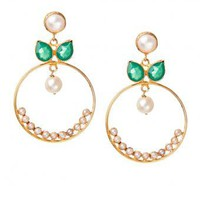 Padma Flower Earrings - INDIAN BAZAAR Padma Flower Earrings