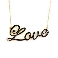 Black Love Necklace - Buy From ShopDesignSpark.com