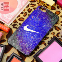 Diamond dust Case iPhone 4 Case iPhone 4s Case iPhone 5 Case idea case just do it case nike case Diamond case
