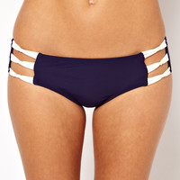 ASOS | ASOS Contrast Mini Knot Side Bikini Pant at ASOS