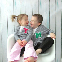 Personalized Toddler Letter Jacket, Monogrammed Cardigan Sweater 2T, 4T & 6