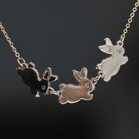 rabbit  necklace N037 by fantasticgift on Etsy