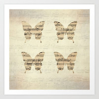 butterflies - the magic flute Art Print by Steffi Louis-findsFUNDSTUECKE