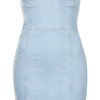 Denim Bandeau Dress