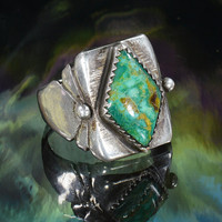 Ring Turquoise Diamond Size 10 by silvermason on Etsy