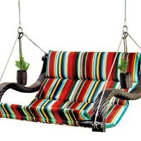 Outback Urban Balance Hanging Expanse Chair with Cup Holders, Stripe: Patio, Lawn & Garden