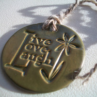 Live Love & Laugh Ceramic Ornament